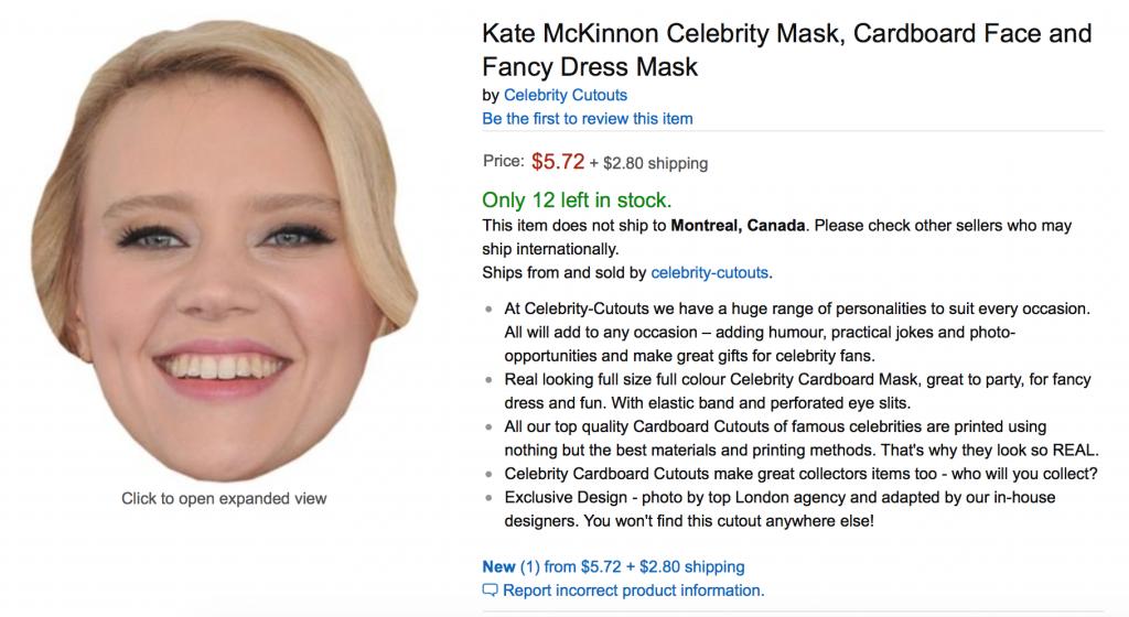 Kate McKinnon Mask