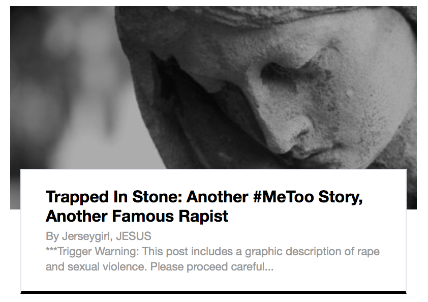 Trapped In Stone: Another #MeToo Story, Another Famous Rapist